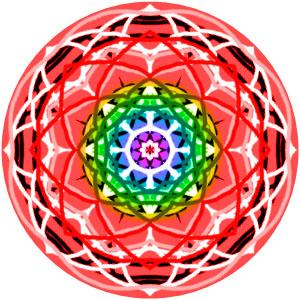 mandala #1 radial rainbow scale 50